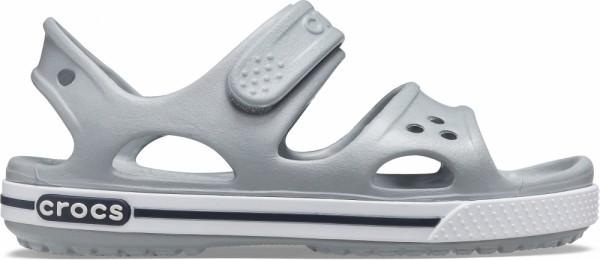 Crocs Crocband II Sandal PS Kinder Sandale (Light Grey/Navy)