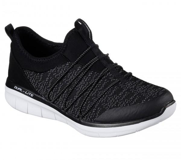 Skechers Synergy 2.0 - Simply Chic Damen Sneaker 12379 (Schwarz-BKW)