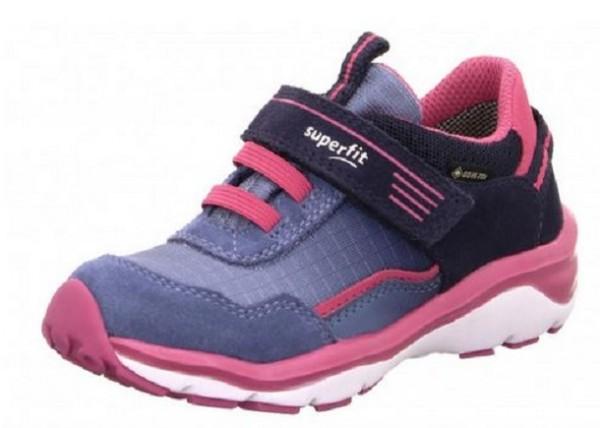 Superfit Sport5 Mädchen Sneaker 6-09241(Blau/Rosa 82)