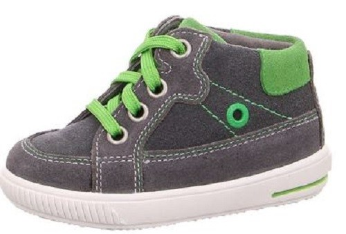 Superfit Moppy Kinder Sneaker (Grau/Grün 20)