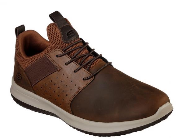 Skechers Delson - Axton Herren Sneaker (Braun-CDB)