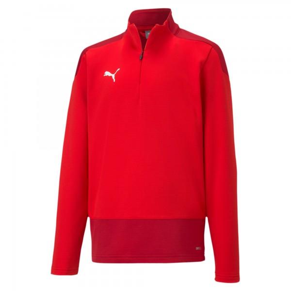 Puma TeamGOAL 23 Training 1/4 Zip Top Jr Kinder Pullover 656567 (Rot 01)