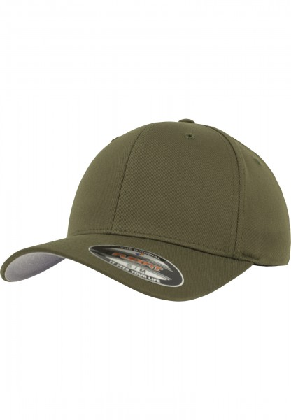 Flexfit Wooly Combed Baseball Cap (Olive-00176)