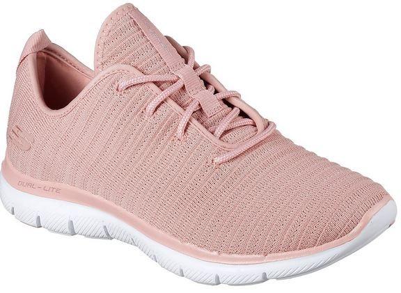 Skechers Flex Appeal 2.0 - Estates Damen Sneaker 12899(Rosa-ROS)