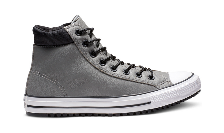 Details zu Converse Chuck Taylor All Star Leder Hi Schuhe Sneaker Stiefel 162414C (Grau)