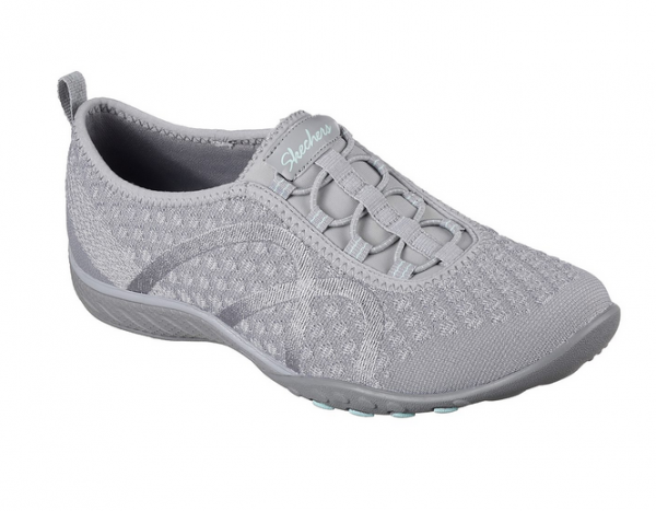 Skechers Relaxed Fit: Breathe Easy - Fortune-Knit Damen Sneaker 23028(Grau-GRY)