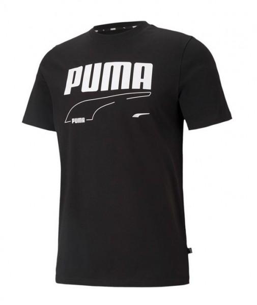 Puma Rebel Tee Herren T-Shirt 585738 (Schwarz 01)
