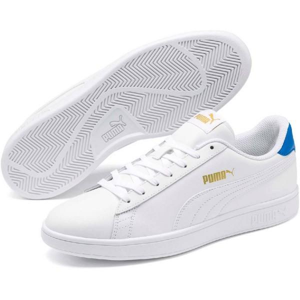 Puma Smash v2 L Herren Sneaker 365215 (Weiß/Blau-18)
