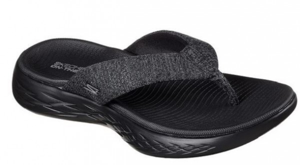 Skechers on the GO 600 - Preferred Damen Zehentrenner(Schwarz-BBK)