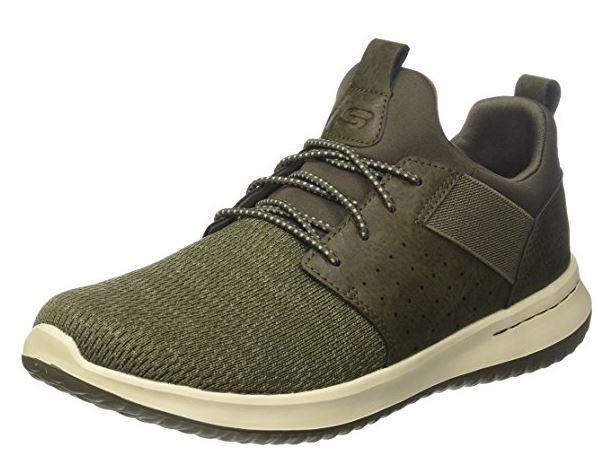 Skechers Delson-Camben Herren Sneaker 65474 (Grün/Olive-OLV)