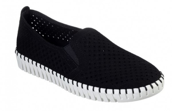 Skechers Sepulveda BLVD - A La Mode Damen Sneaker 23967 (schwarz-BKW)