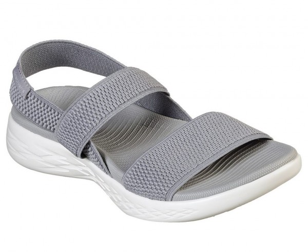 Skechers On the GO 600 - Flawless Damen Sandale 15312 (Grau-GYW)