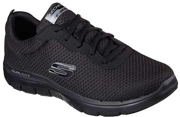 Skechers Flex 2.0 - Dayshow Herren Sneaker 52125 (Schwarz-BBK)