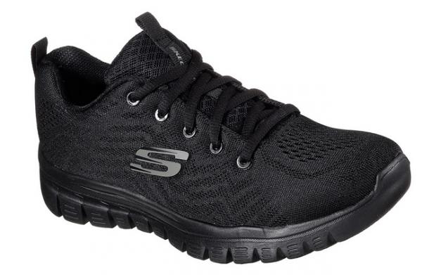 Skechers Graceful - Get connected Damen Sneaker 12615 (Schwarz-BBK)