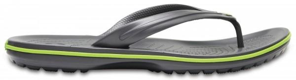 Crocs Crocband Flip Zehentrenner (Graphite / Volt-Green)