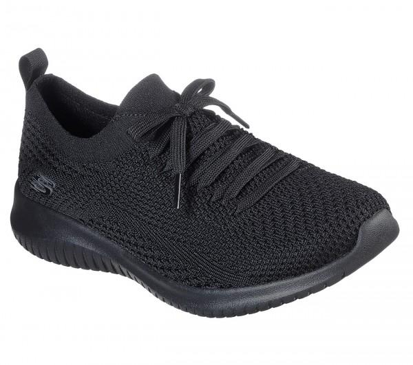 Skechers Ultra Flex - Statements Damen Sneaker 12841 (Schwarz-BBK)