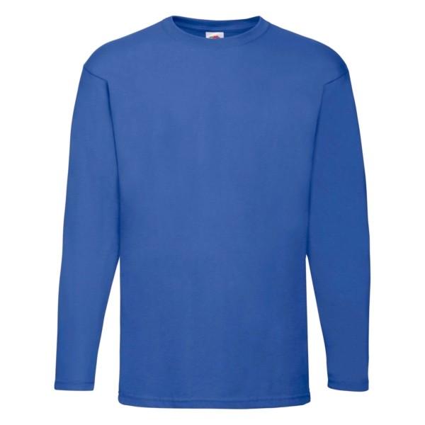 Fruit of the Loom Herren Langarm T-Shirt 5er Pack 61-038-0 (Blau 51)