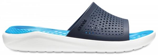 Crocs LiteRide Slide Sandale (Navy/White)