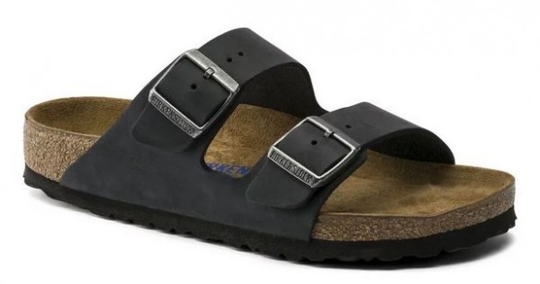 Birkenstock Arizona FL WB Pantolette normal 752481 (Schwarz)