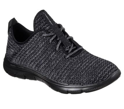 Skechers Flex Appeal 2.0 Bold Move Damen Sneaker 12773 (Schwarz/Grau-BKCC)