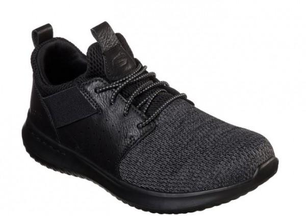 Skechers Delson - Camden Herren Sneaker 65474 (Schwarz-BBK)