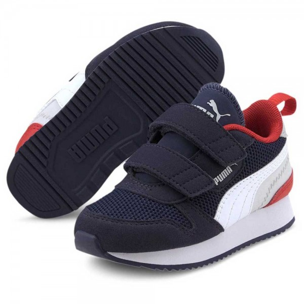 Puma R78 V PS Kinder Sneaker 373617 (Blau 10)