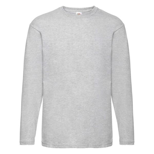 Fruit of the Loom Herren Langarm T-Shirt 5er Pack 61-038-0 (Grau 94)