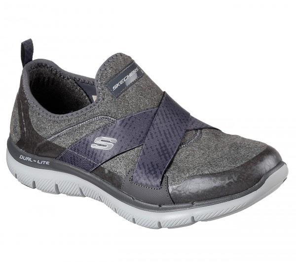 Skechers Flex Appeal 2.0 Bright Eyed Damen Sneaker 12619 (Grau-CHAR)