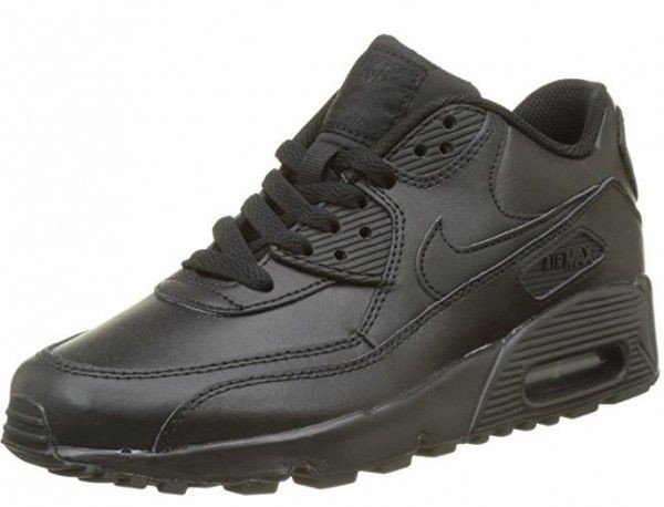 Nike Air Max 90 Leather GS Kinder Sneaker (Schwarz 001)