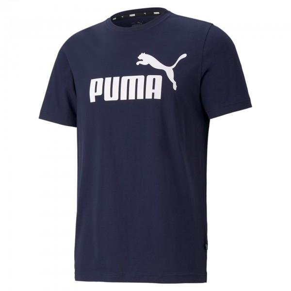 Puma ESS Logo Tee Herren T-Shirt 586666 (Blau 06)