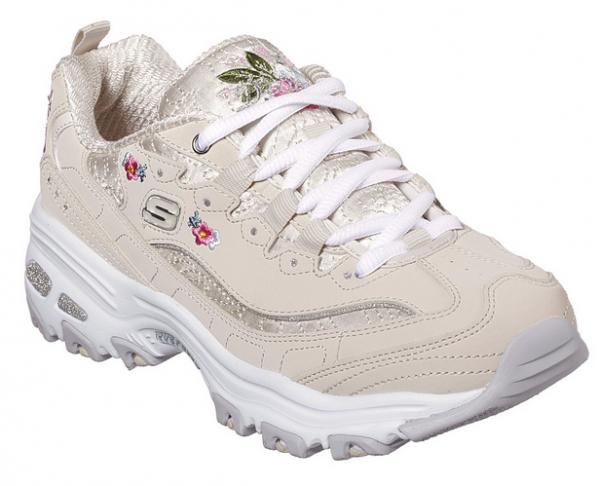 Skechers D'Lites Bright Blossoms Damen Sneaker (Beige-NAT)
