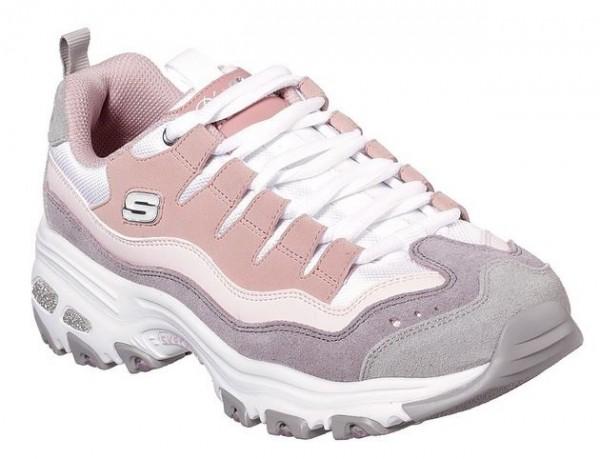 Skechers D'Lites - Sure Thing Damen Sneaker(Rosa/Violett-PKPR)