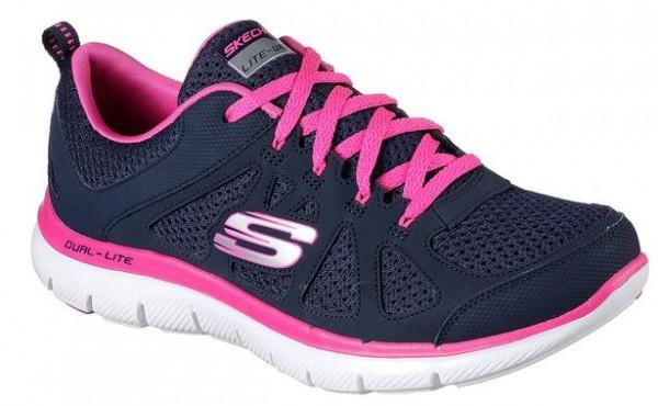 Skechers Flex Appeal 2.0 Simplistic Damen Sneaker 12761(Blau-NVHP)