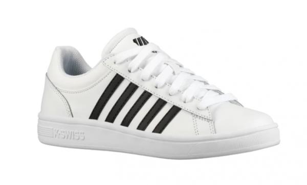newest b78af 8ee1c K-Swiss Court Winston Damen Sneaker (Weiß/Schwarz 102)