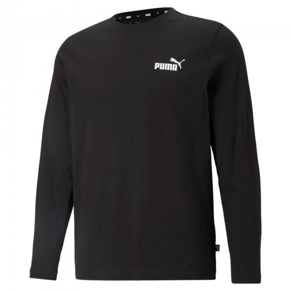 Puma Ess Small Logo Longsleeve Tee / Herren Sweatshirt 586672 ( Schwarz 01)