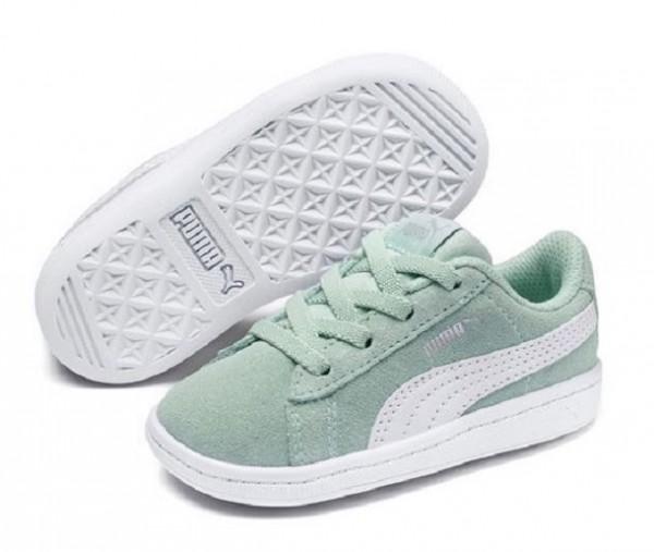 Puma Vikky AC PS Kinder Sneaker 366713(Grün 04)