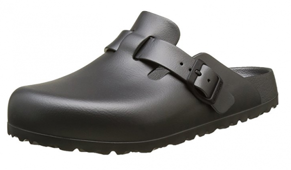 BIRKENSTOCK Boston Hausschuhe schmal grau Damen Schuhe