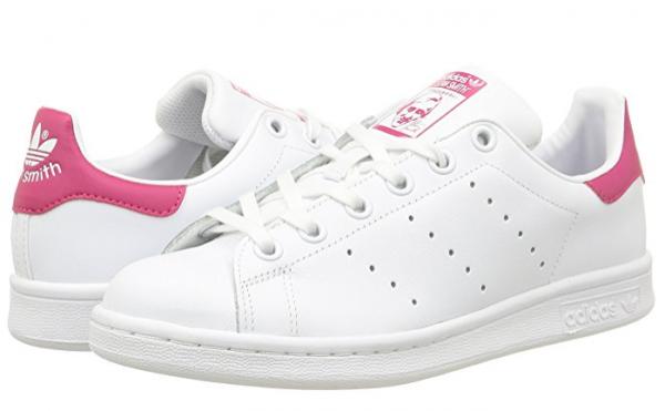 Adidas Stan Smith J Mädchen Sneaker B32703 (Weiß, Pink)