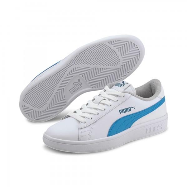 Puma Smash v2 L Jr Kinder Sneaker 365170 (Weiß 21)