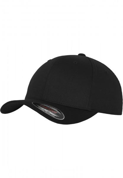 Flexfit Wooly Combed Baseball Cap (Black/black-00017)