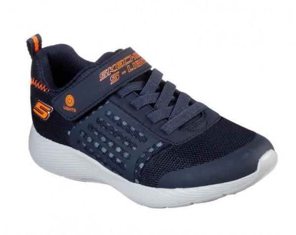 Skechers S Lights: Dyna Lights Kinder Sneaker 90740L (Blau-NVOR)