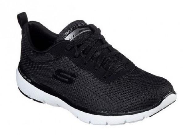 Skechers Flex Appeal 3.0 – First Insight Damen Sneaker 13070 (Schwarz BKW)