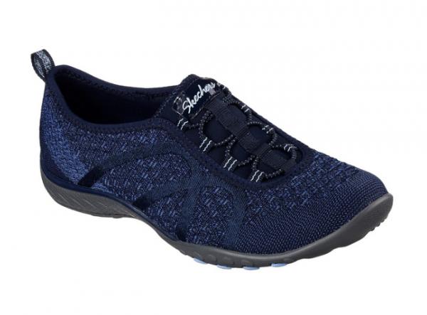 Skechers Relaxed Fit: Breathe Easy - Fortune-Knit Damen Sneaker 23028 (Blau-NVY)