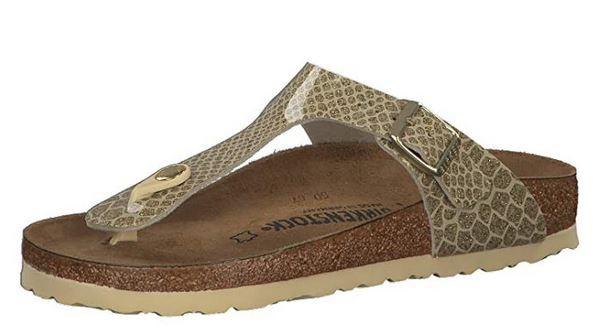 Birkenstock Gizeh Birko-Flor normal Damen Sandale 1011770 (Gold)
