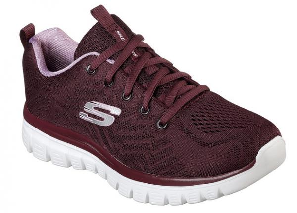 Skechers Graceful – Get Connected Damen Sneaker (Rot-WINE)