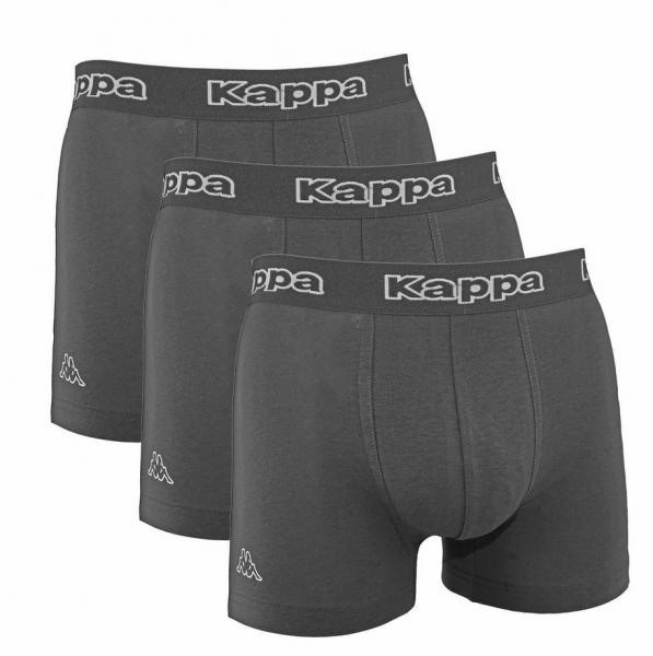 Kappa Tsuna Herren Boxershorts 6er Pack (Grau)