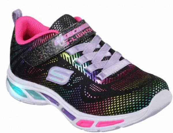 Skechers S Lights Litebeams-Gleam N´Dream Kinder Sneaker (Schwarz-BKMT)