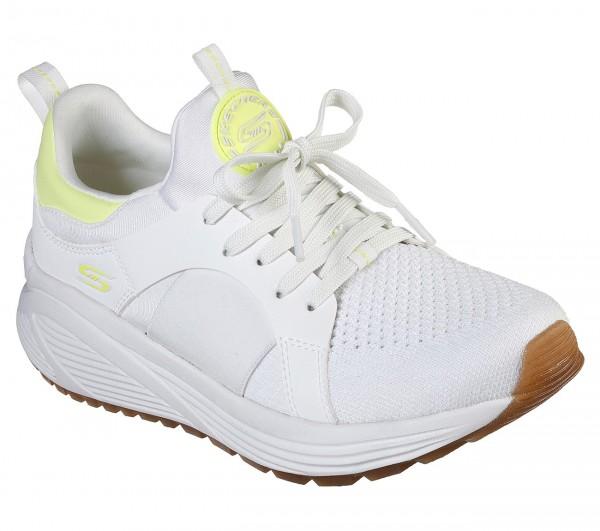 Skechers Bobs Sport Sparrow 2.0 - Metro Daisy Damen Sneaker 117013 (Weiß-WYL)