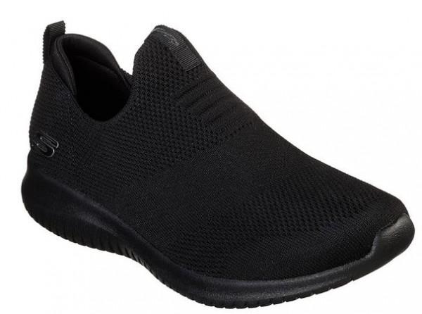 Skechers Ultra Flex - First Take Damen Sneaker (Schwarz-BBK)