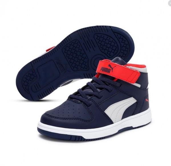 Puma Rebound LayUp SL V PS Kinder Sneaker 370488 (Blau 11)
